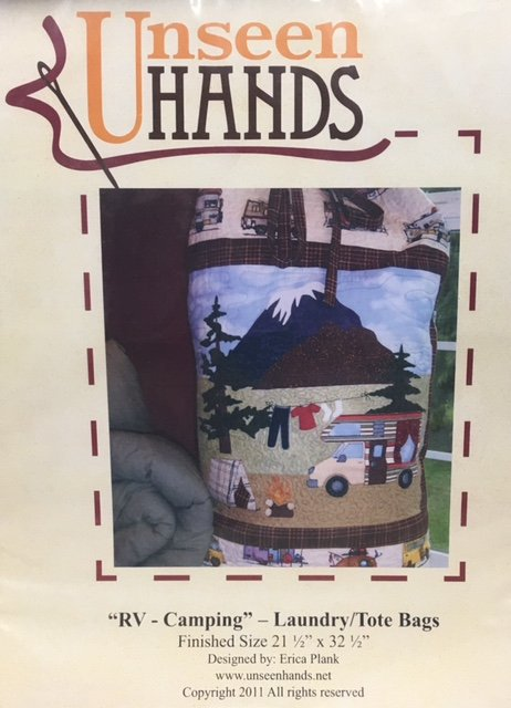 UH1034 Unseen Hands RV Camping 21.5 x 32.5 Laundry Tote Bag