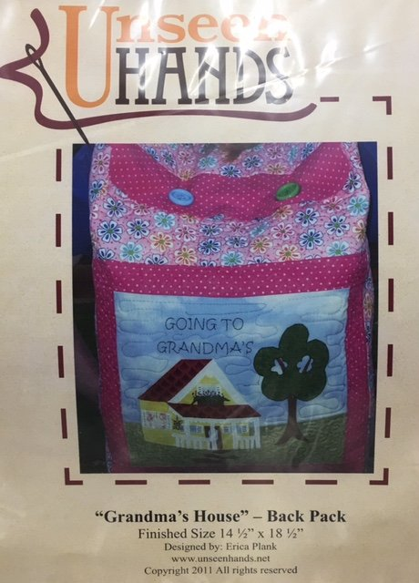 UH1035 Unseen Hands Grandma's House 14.5 x 18.5 Back Pack Pattern