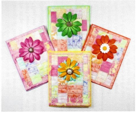 Wild Flower I On the Trail Creations Quilted Card Pattern