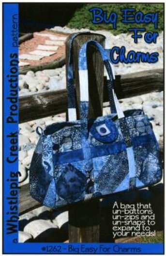 WP1262 Whistlepig Creek Designs The Big Easy for Charms Tote
