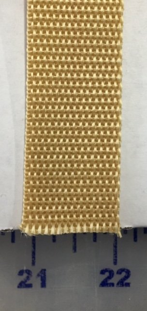 WRI1861071928 Simplicity Webbing 100% Poly 1 Wide Gold