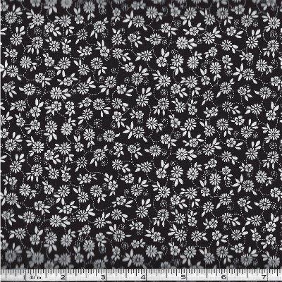 Y0744-3 Clothworks Black & White Flowers
