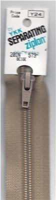 Y24-573 YKK Zipper Separating Coil Beige 20