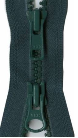 Y28-530 YKK Zipper 2-Way Separating 30 inch, Hunter Green