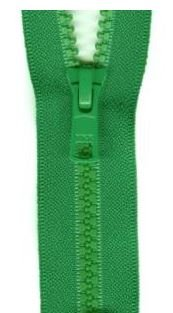 Y38-540 YKK, Activewear Separating Zipper, Kelly Green, 22 inch