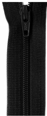 ZIP09-BLK, YKK, Non-Seperating Zipper, 9 inch Black