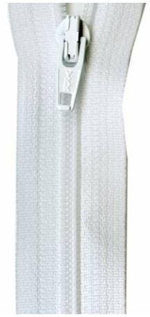 ZIP09-WHT, YKK, Non-Seperating Zipper, 9 inch White