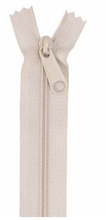 ZIP24-130 By Annie Handbag Zipper 24 Natural