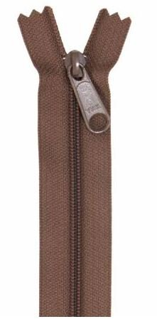 ZIP24-140 By Annie Handbag Zipper 24 inch Single Slide Seal Brown