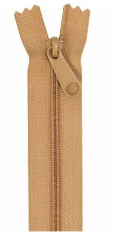 ZIP24-170 By Annie Handbag Zipper 24 inch Single Slide Golden Brown