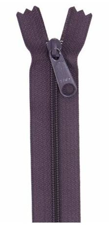 ZIP24-240 By Annie Handbag Zipper Single Slide 24 inch Eggplant Purple