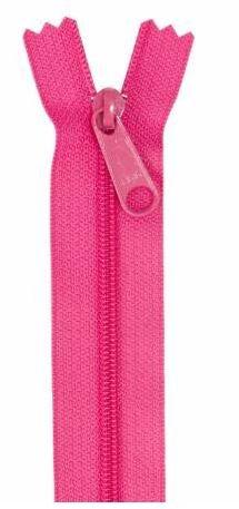 ZIP24-250 By Annie Handbag Zipper 24 Lipstick Pink