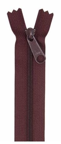 ZIP24-270 By Annie Handbag Zipper Single Slide 24 inch Cranberry