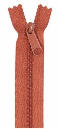 ZIP24-280 By Annie Handbag Zipper Single Slide 24 inch Redwood