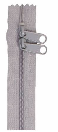 ZIP30-110 By Annie Double Slide Handbag Zipper 30 inch Pewter