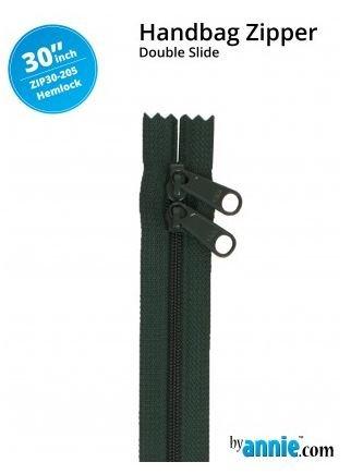 ZIP30-205 By Annie Double Slide Handbag Zipper 30 inch Hemlock Green
