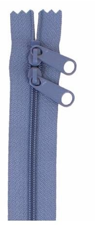 ZIP30-220 By Annie Double Slide Handbag Zipper 30 inch Country Blue