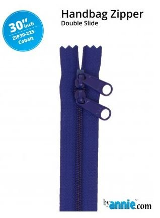 ZIP30-225 By Annie Double Slide Handbag Zipper 30 inch Cobolt Blue