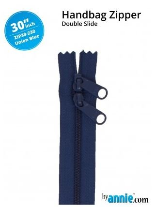 ZIP30-230 By Annie Double Slide Handbag Zipper 30 inch Union Blue