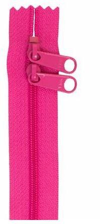 ZIP30-252 By Annie Double Slide Handbag Zipper 30 inch Raspberry