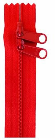 ZIP30-260 By Annie Double Slide Handbag Zipper 30 inch Red