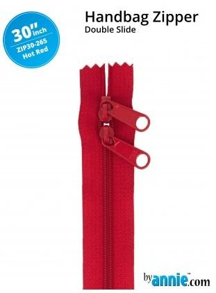 ZIP30-265 By Annie Double Slide Handbag Zipper 30 inch Hot Red