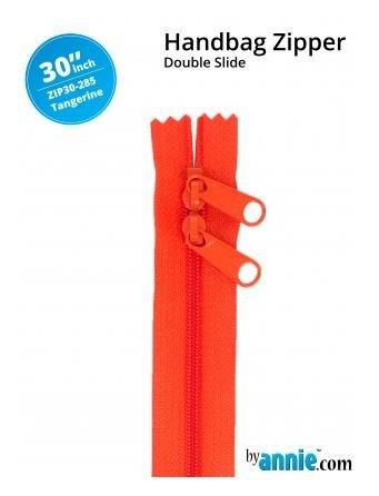ZIP30-285 By Annie Double Slide Handbag Zipper 30 inch Tangerine