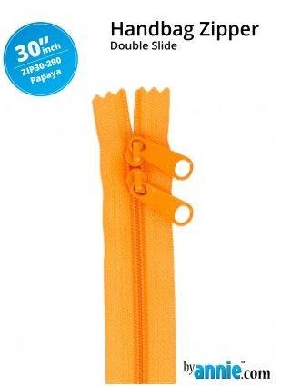ZIP30-290 By Annie Double Slide Handbag Zipper 30 inch Papaya