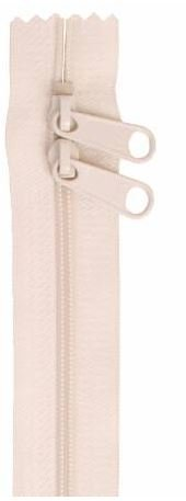 ZIP40-102 By Annie Handbag Zipper, Double Slide, 40 inch, Ivory