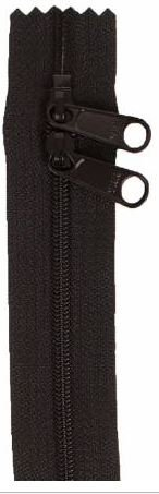 ZIP40-105 By Annie Handbag Zipper, Double Slide, 40 inch, Black
