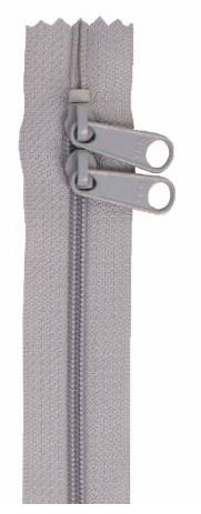 ZIP40-110 By Annie Handbag Zipper, Double Slide 40 inch, Pewter