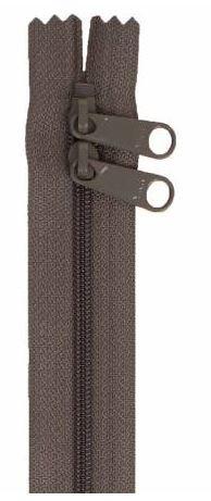 ZIP40-120 By Annie Handbag Zipper, Double Slide 40 inch, Slate Gray