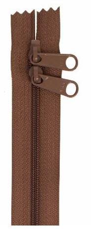 ZIP40-140 By Annie Handbag Zipper, Double Slide, 40 inch, Seal Braown
