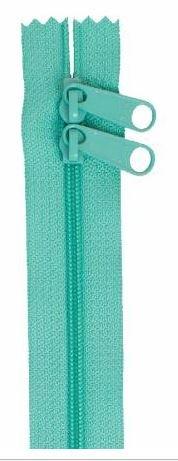 ZIP40-212 By Annie Handbag Zipper, Double Slide, 40 inch, Turquoise