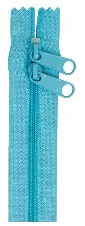 ZIP40-214 By Annie Handbag Zipper, Double Slide, 40 inch, Parrot Blue