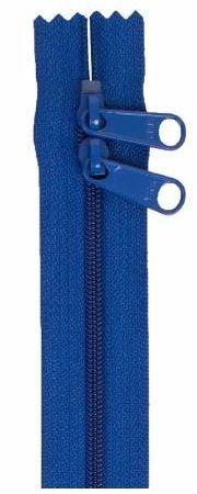 ZIP40-215 By Annie Handbag Zipper, Double Slide, 40 inch, Blastoff Blue