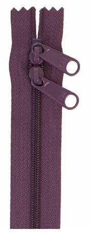 ZIP40-240 By Annie Handbag Zipper, Double Slide, 40 inch, Eggplant