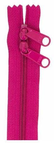 ZIP40-255 By Annie Handbag Zipper, Double Slide, 40 inch, Crazy Plum
