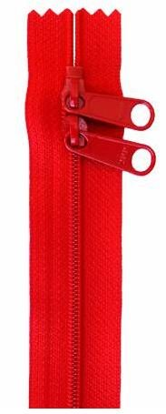 ZIP40-260 By Annie Handbag Zipper, Double Slide, 40 inch, Atom Red