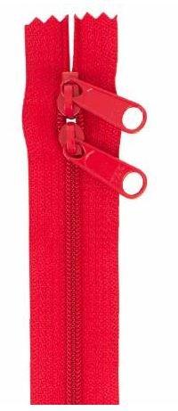 ZIP40-265 By Annie Handbag Zipper, Double Slide, 40 inch, Hot Red
