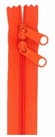 ZIP40-285 By Annie Handbag Zipper, Double Slide, 40 inch, Tangerine