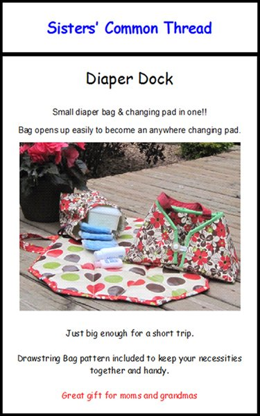 Diaper Dock Pattern
