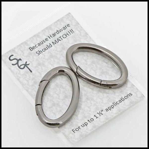 1 1/2 Gunmetal Spring Ring, Pkg of 2