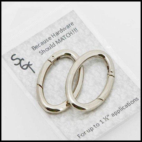 1 1/2 Nickel Spring Ring, Pkg of 2