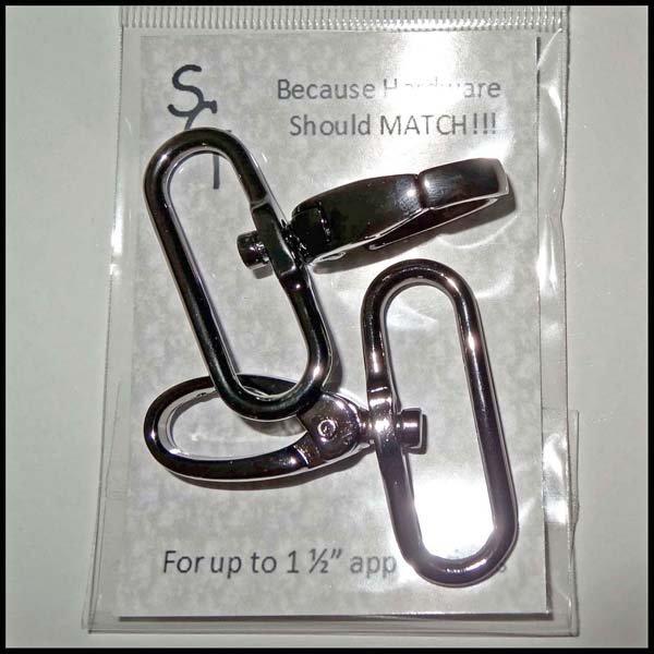 1 1/2 Gunmetal Swivel Clip, Pkg of 2