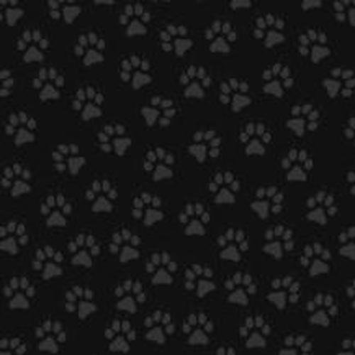 Exclusixely Quilters Paw Prints 3732-8769-8 Black