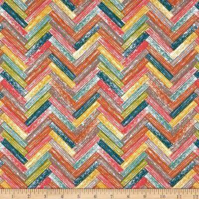 Farm Fresh Poplin Birch Organic Poplin Barn Floors Multi`