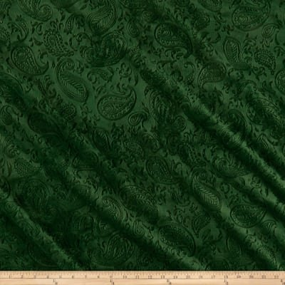 Shannon Fabrics Paisley Vine Embossed Cuddle Evergreen `