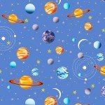 AE Nathan Comfy Flannel  Blue Outer Space Planets N0883-11