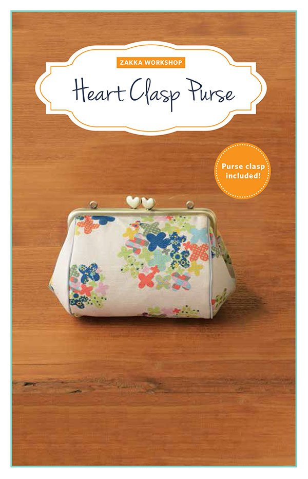 Heart Clasp Purse Kit with pattern 9781940552194 `